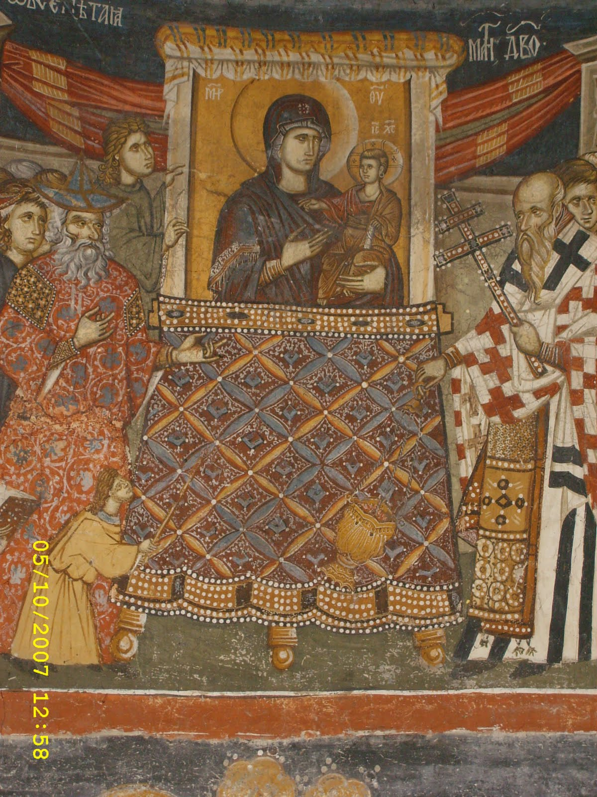 The Hodegetria Icon in the Great Palace Chapel of Constantinople