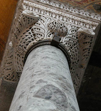 Capital in Hagia Sophia
