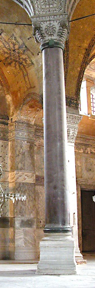 Porphyry Column from the nave of Hagia Sophia