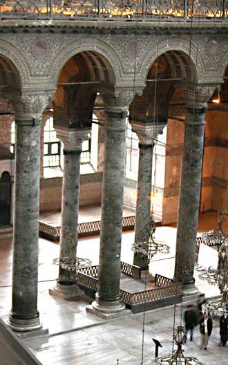 columns in Hagia Sophia