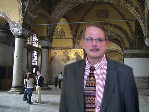 Bob Atchison in Hagia Sophia