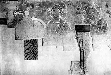 The wall where the Deesis was uncovered