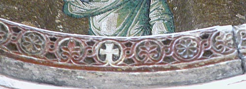Carved and gilded dome cornice of the Pammakaristos