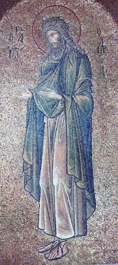 Mosaic of John the Baptist in the Pammacaristos