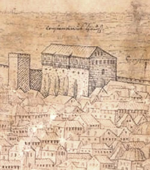 Lorck drawing of Tekfur Saray Constantinople