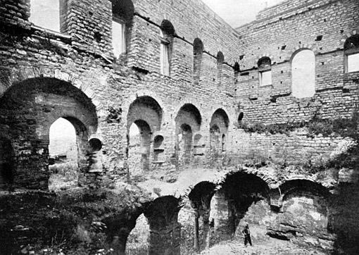 Interior of Tekfur Saray