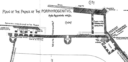 Plan of the Palace Tekfur Saray