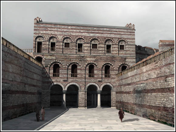 Reconstruction of Tekfur Saray from Byzantium 1200