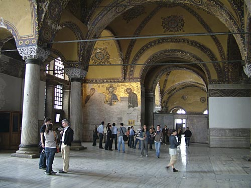 Tourists in Hagia Sophia