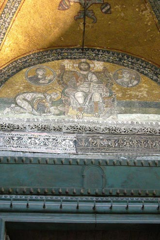 Leo the Wise mosaic in Hagia Sophia