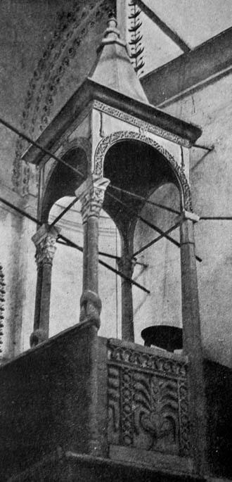 Pantokrator altar converted Islamic minbar