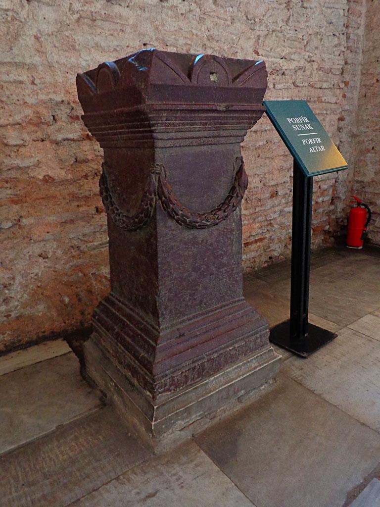 Red Porphyry Altar in Hagis Sophia