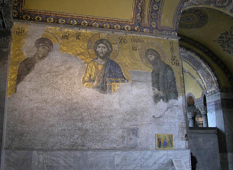 Deesis Mosaic Christ Theotokos John