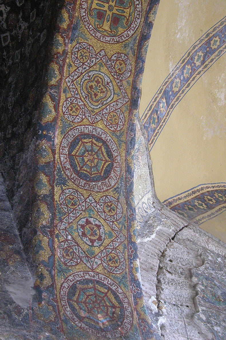 Justinian mosaic in Hagia Sophia