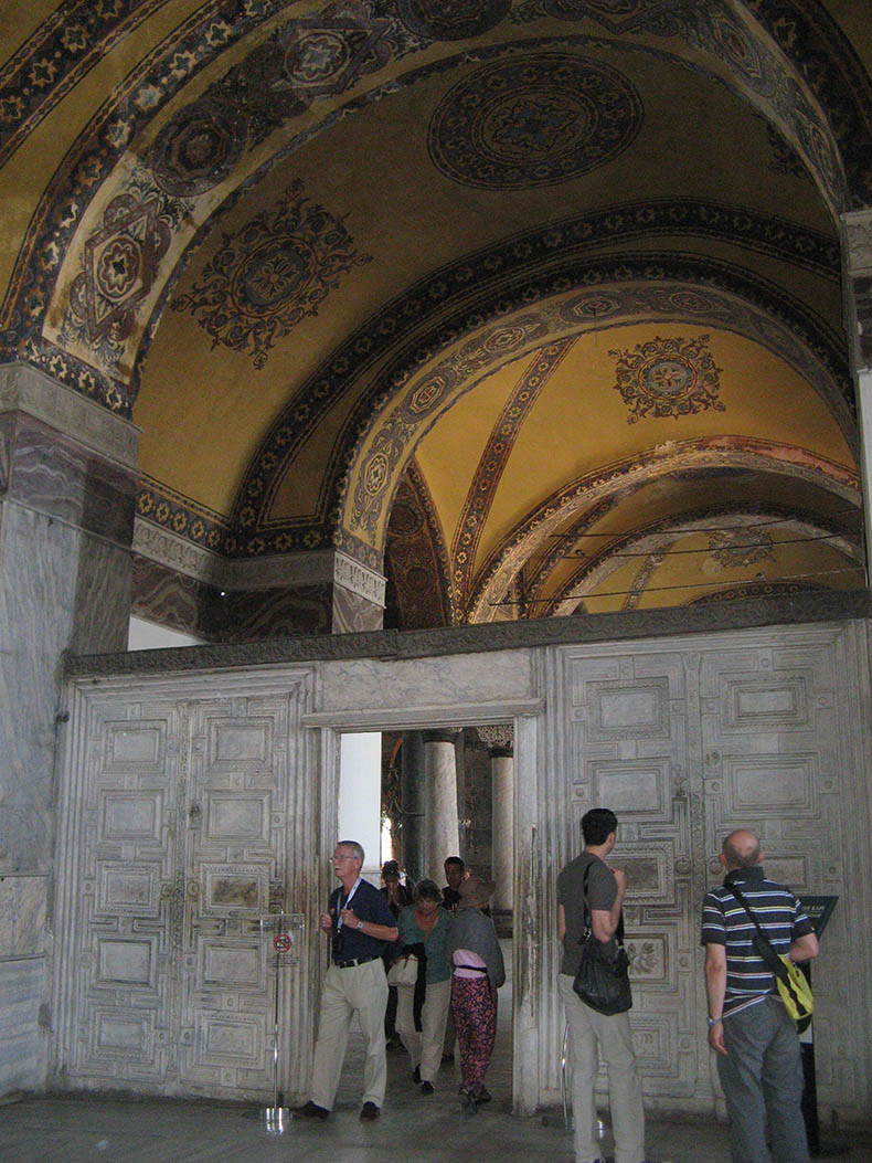 Marble Door Hagia Sophia South Galler