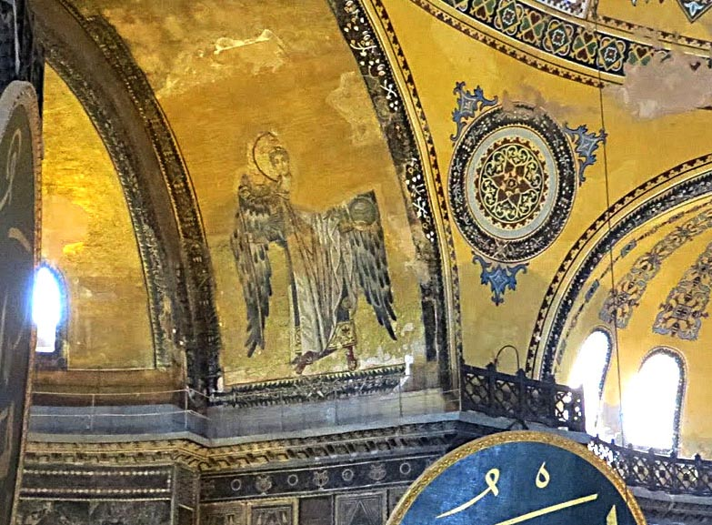 Angel from the Bema in Hagia Sophia