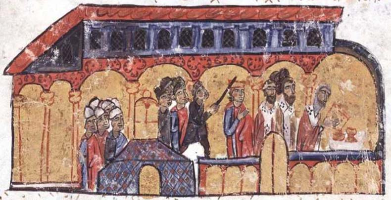 Leo VI attack in Saint Mokios