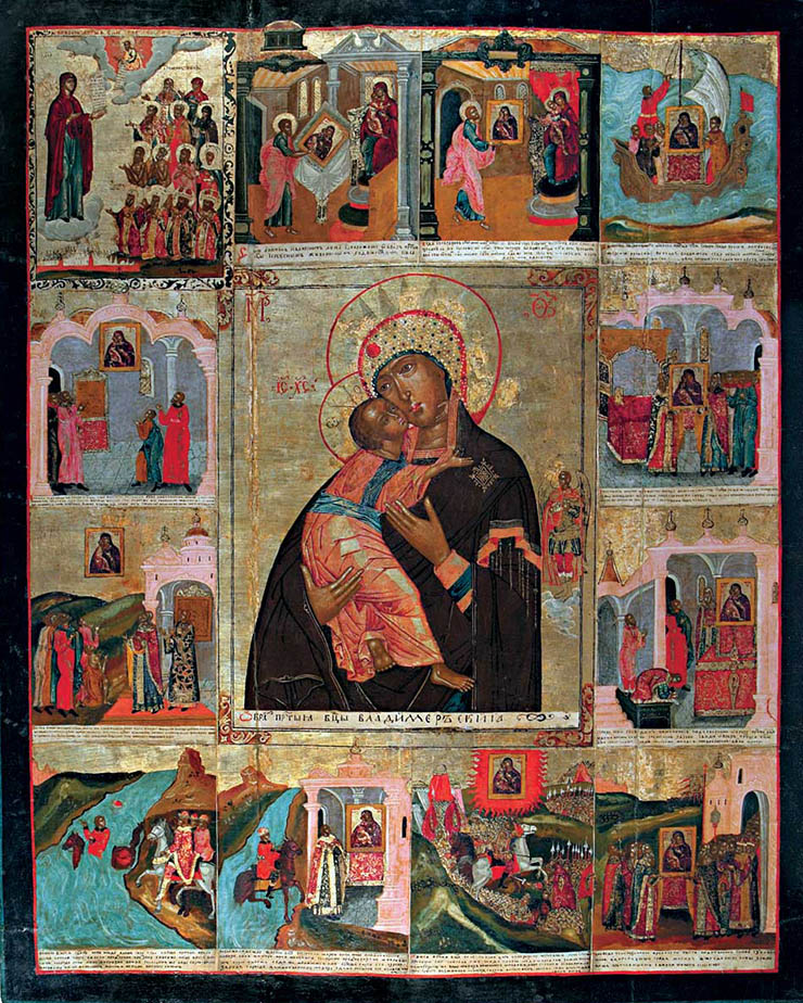 Icon of Virgin of Vladimir with history in Russia
