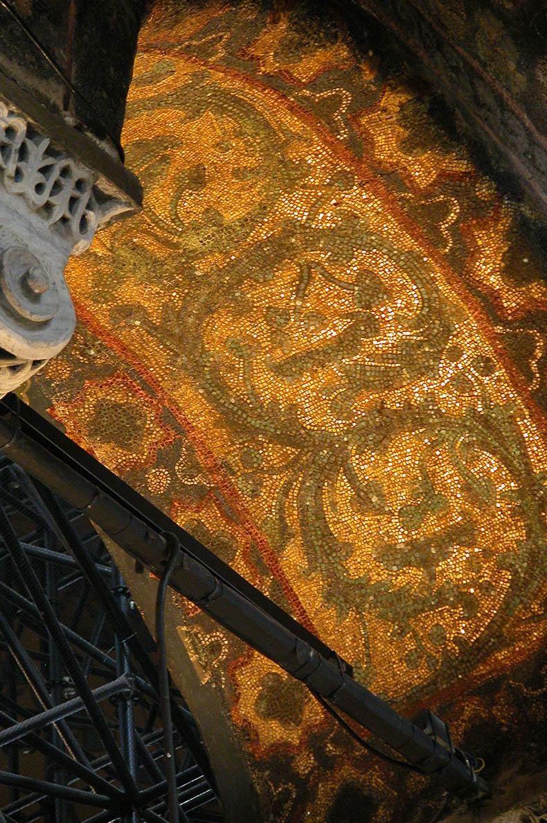 Justinian period mosaics in Hagia Sophia
