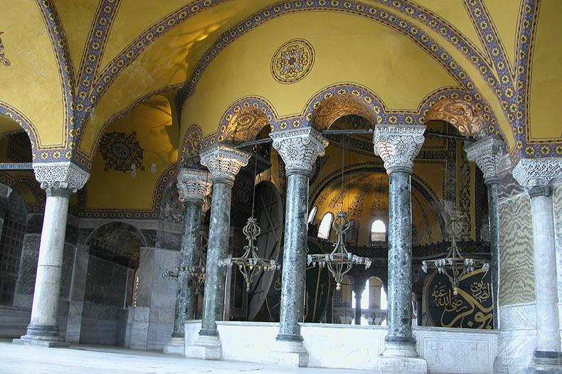 Verde Antico Exhedra Columns