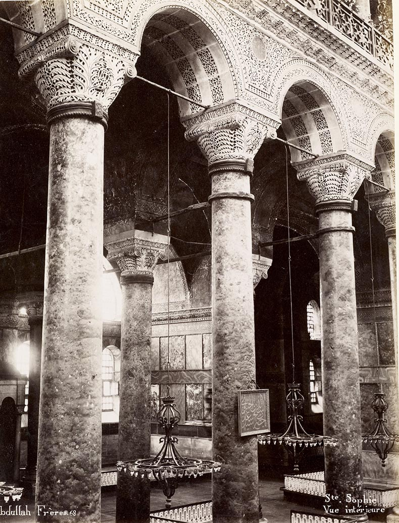 19th Cetury Image of Hagia Sopghua Nave Getty