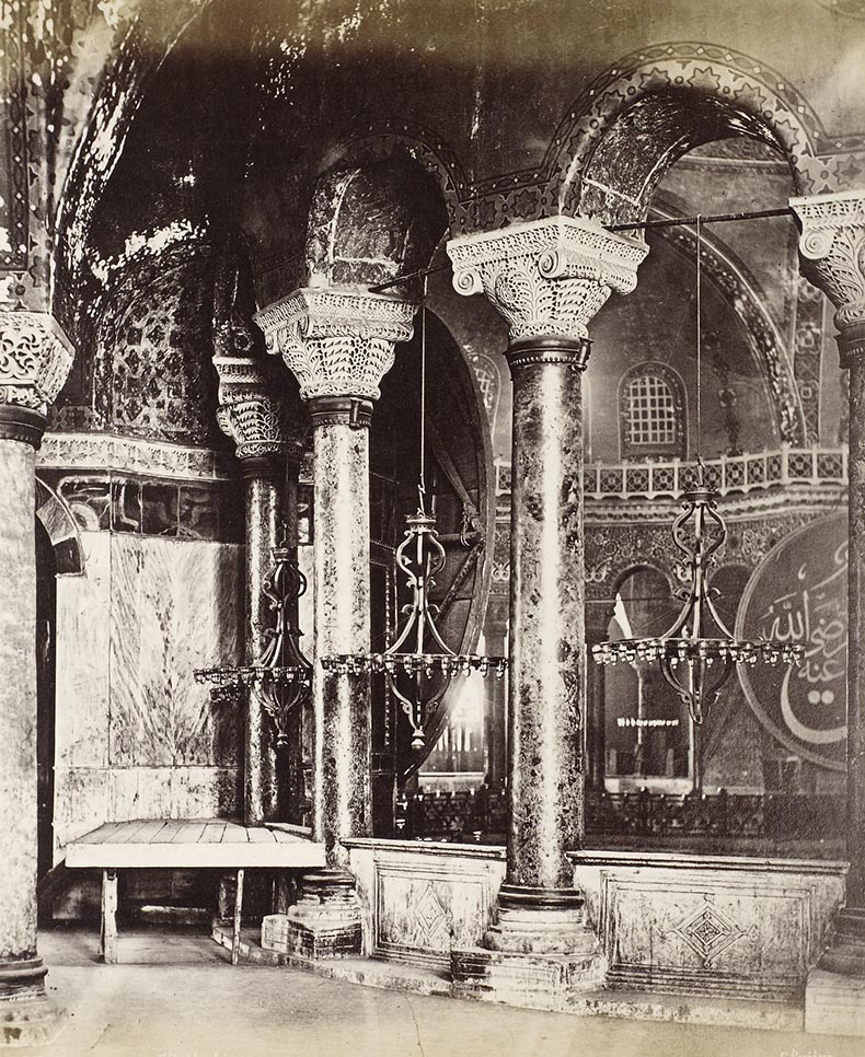 South Gallery of Hagia Sophia 19th century image