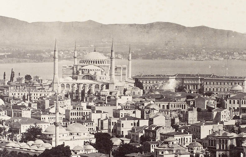 Aerial View Hagia Sophia in the 19th Century