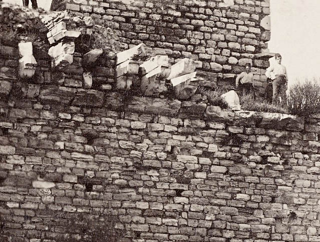 People standing on the walls of Constantinople