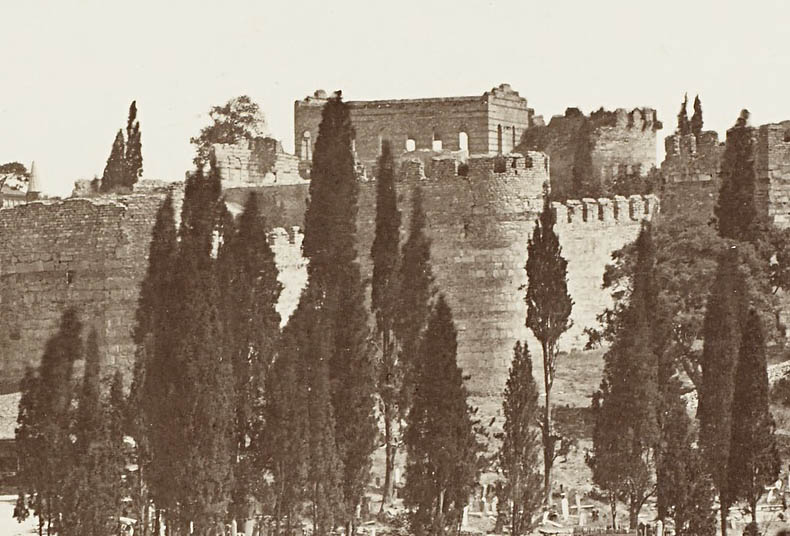 Palace of the Porphyrogenitus - overlooking the walls of Constantinople