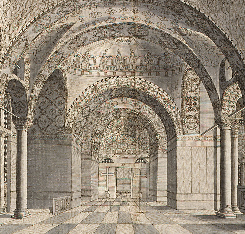 Loos Drawing - South Gallery Hagia Sophia