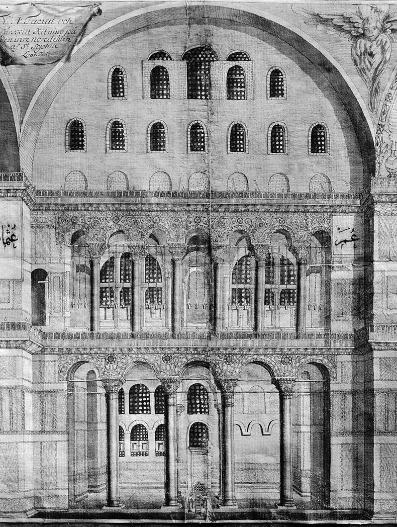 North Tympana of Hagia Sophia and Arcades