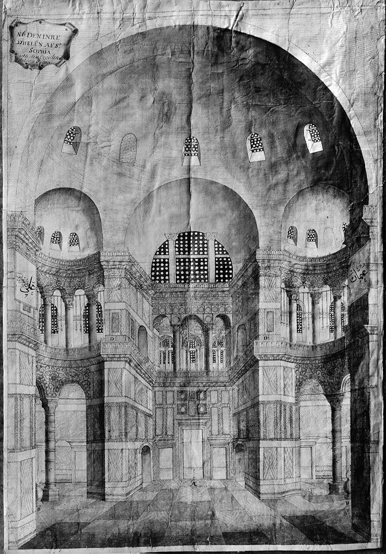 Loos drawing of Hagia Sophia