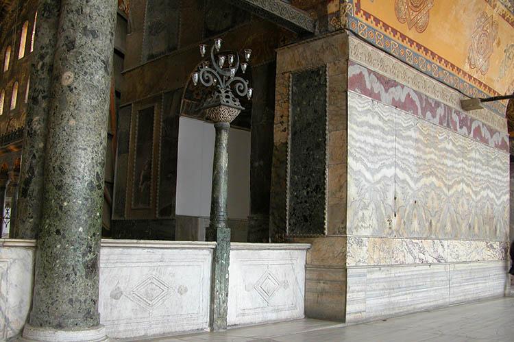 Marble Revetment - West Gallery - Hagia Sophia