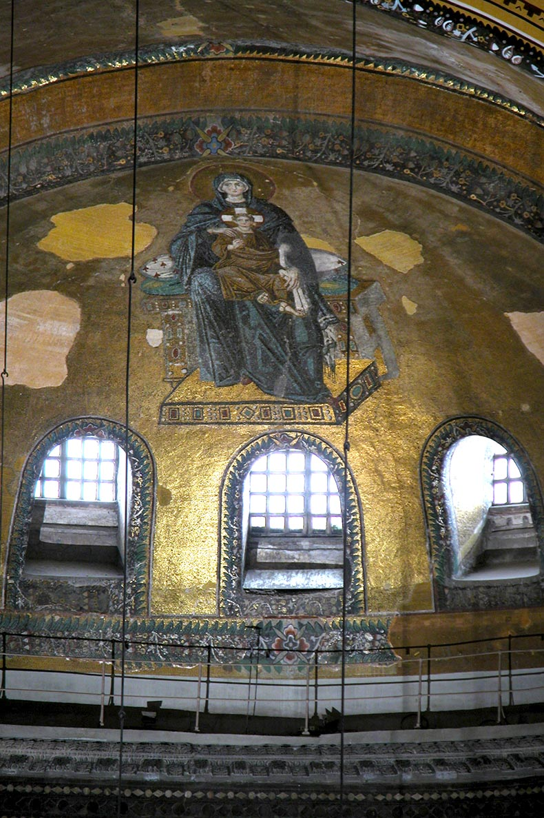 Apse of Hagia Sophia with mosaic
