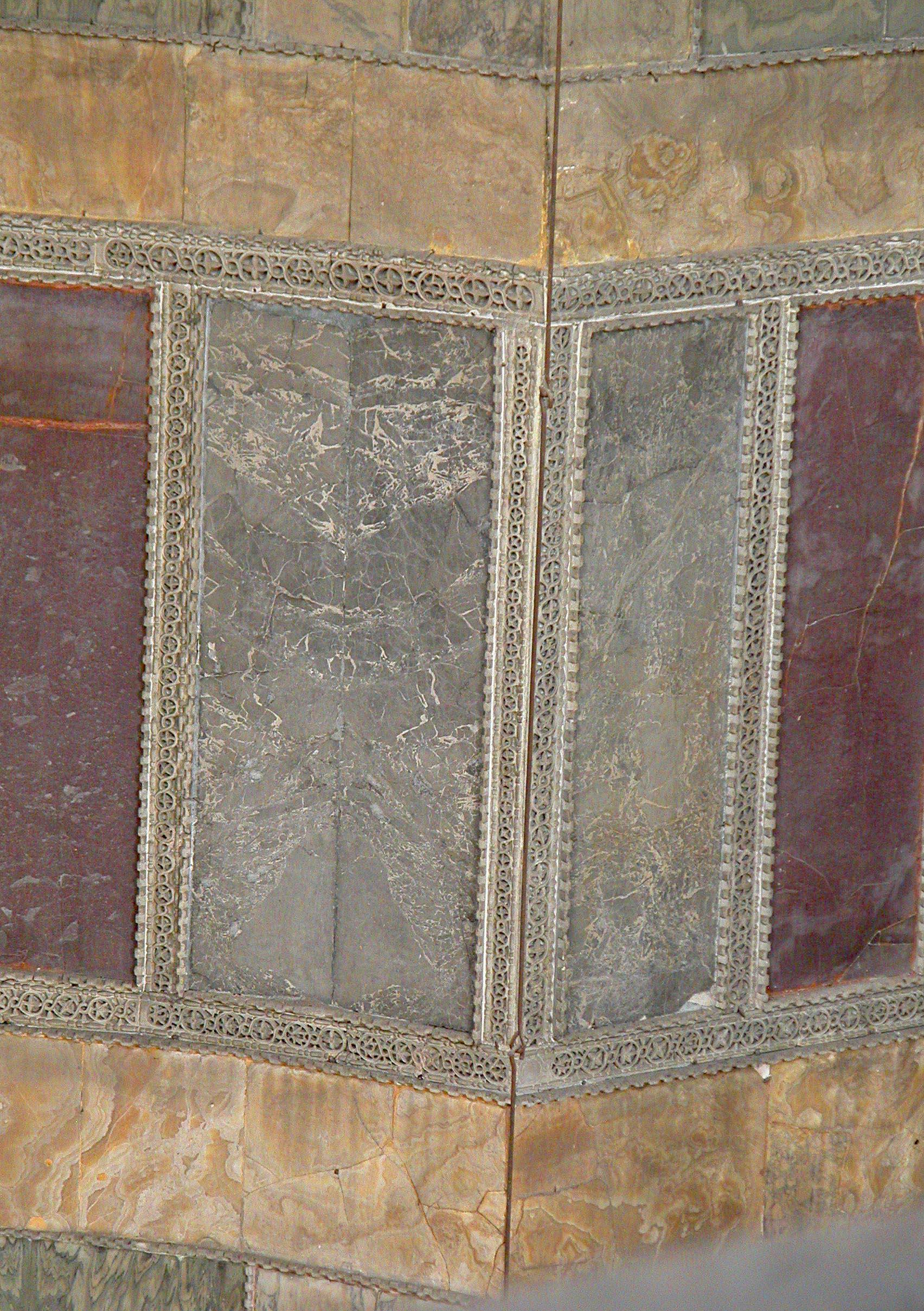 Corner in Nave of Hagia Sophia - Golden Onyx bands