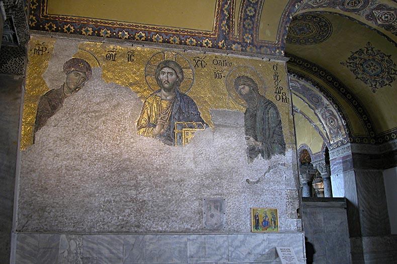 Deesis mosaic in Hagia Sophia