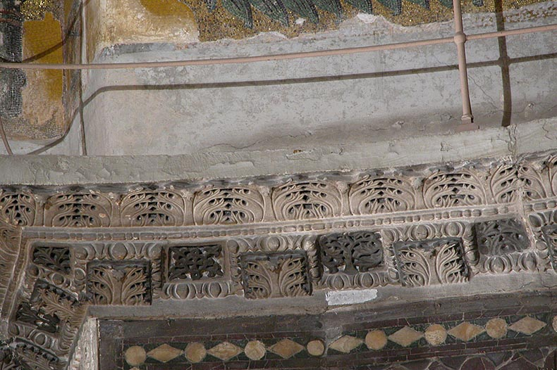 Close-up of Cornice Hagia Sophia