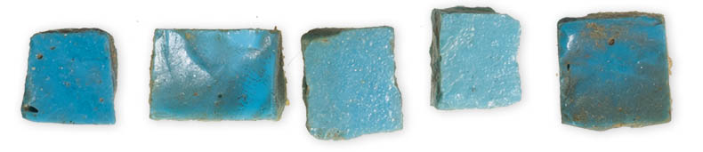 Blue Mosaic Cubes from Hagia Sophia