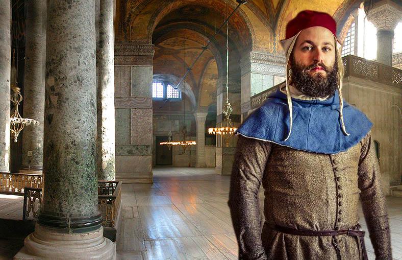 Man in Hagia Sophia