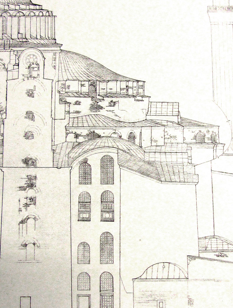 Van Nice Drawing of Hagia Sophia