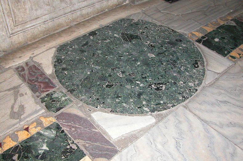 Round marble inset Hagia Sophia West Glalery