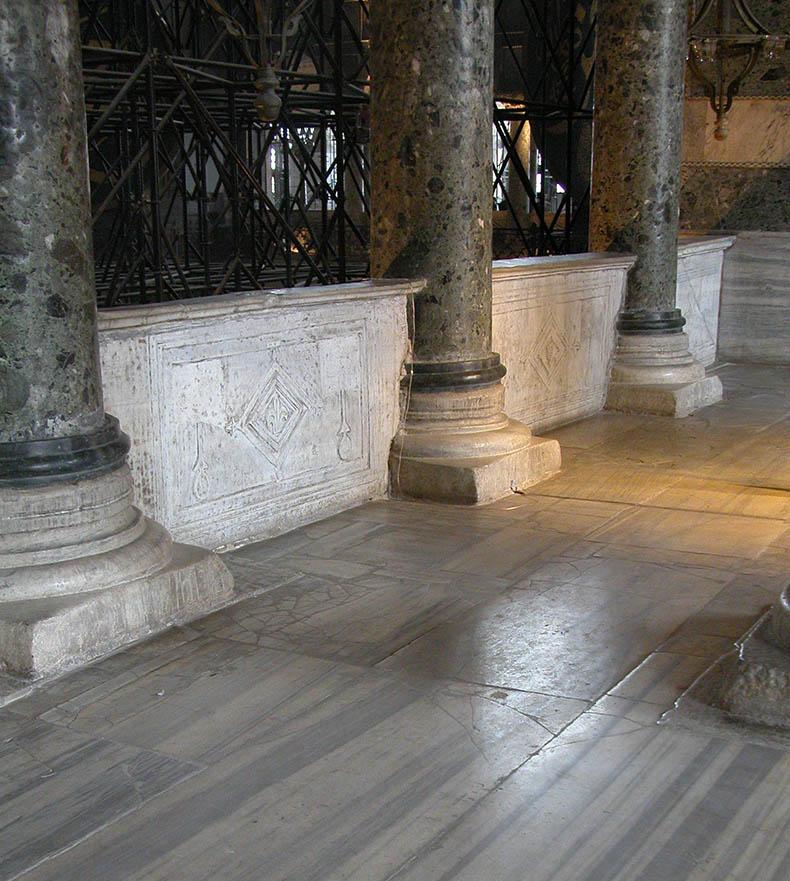 Verde Antique columns in Hagia Sophia