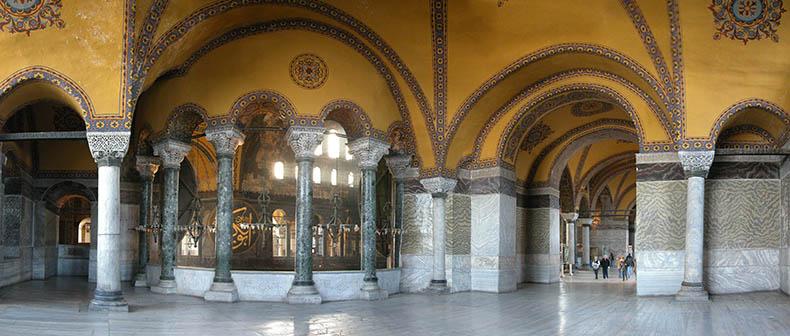 north gallery of Hagia Sophia
