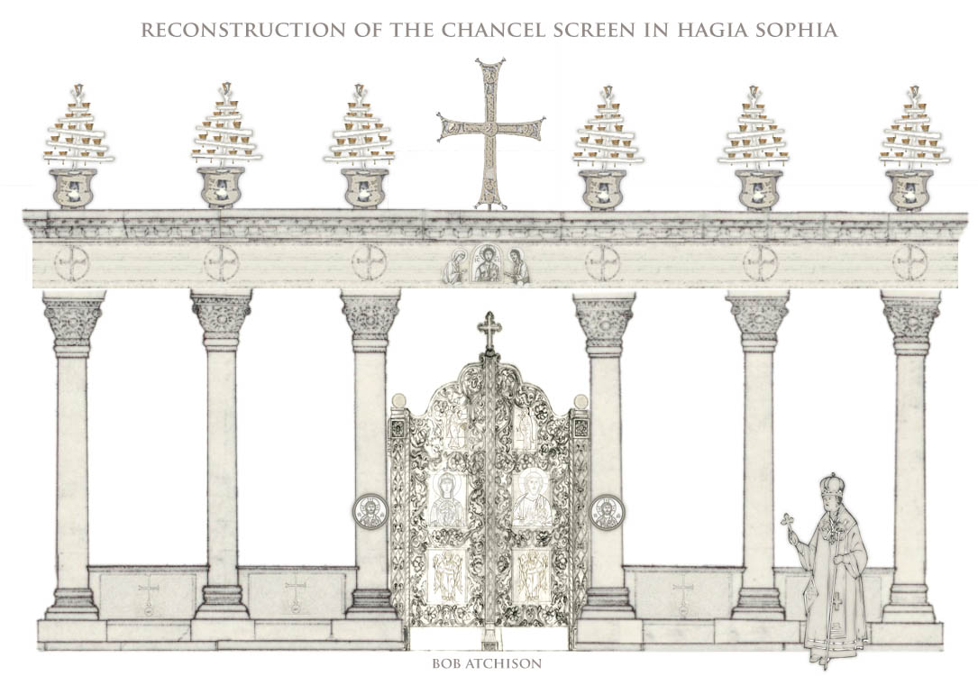 Reconstruction of the chancel screen in Hagia Sophia