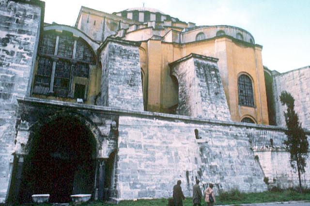 eastern butresses of Hagia Sophia