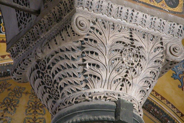 Proconnesian Capital in Hagia Sophia