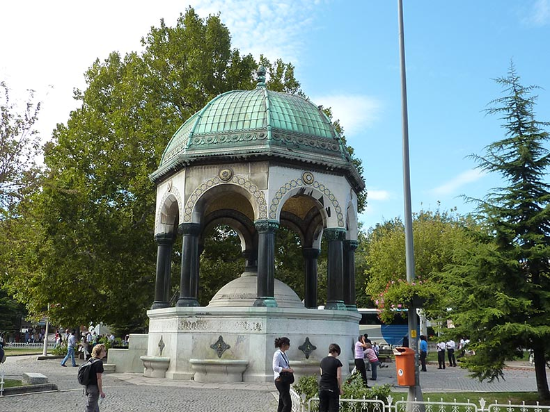 Fountain of Wilhelm II in istanbul