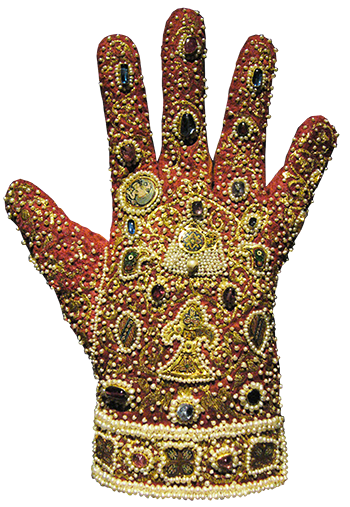 Norman-Byzantine Jeweled Coronation Glove