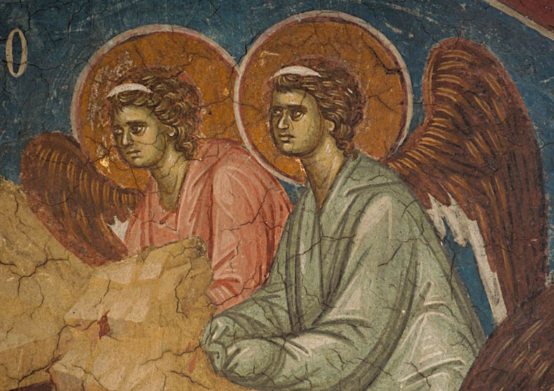 Byzantine Angels From Serbian Churches