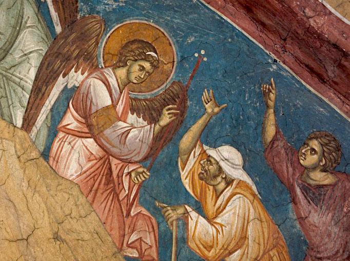 Byzantine Angel with Shepherds